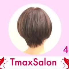 ショートヘア ミニボブ 切りっぱなしボブ ナチュラル ヘアスタイルや髪型の写真・画像