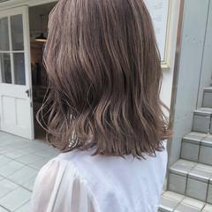 ベージュ 大人かわいい ナチュラル ミルクティーベージュ ヘアスタイルや髪型の写真・画像