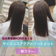 ナチュラル 大人ロング ロング 髪質改善カラー ヘアスタイルや髪型の写真・画像