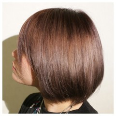 アッシュ ストレート 縮毛矯正 大人かわいい ヘアスタイルや髪型の写真・画像
