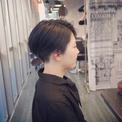 切りっぱなしボブ ベリーショート ショートヘア ボブ ヘアスタイルや髪型の写真・画像