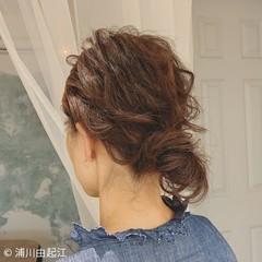 ヘアアレンジ パーティ 大人かわいい ナチュラル ヘアスタイルや髪型の写真・画像