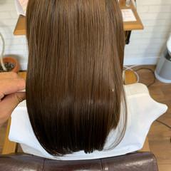 美髪 サラサラ トリートメントストレート ナチュラル ヘアスタイルや髪型の写真・画像