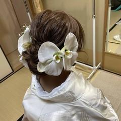 ヘアアレンジ 和装ヘア エレガント 和装髪型 ヘアスタイルや髪型の写真・画像
