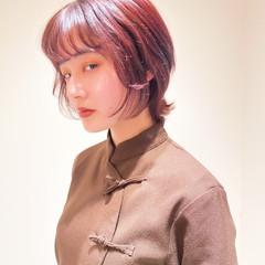 モード ショートヘア ショートボブ ウルフカット ヘアスタイルや髪型の写真・画像