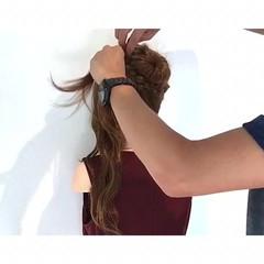 色気 涼しげ フェミニン 簡単ヘアアレンジ ヘアスタイルや髪型の写真・画像