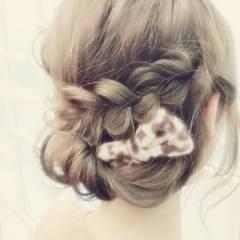 フェミニン ゆるふわ ヘアアレンジ 大人かわいい ヘアスタイルや髪型の写真・画像