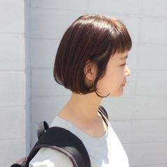 アウトドア ナチュラル キュート ボブ ヘアスタイルや髪型の写真・画像