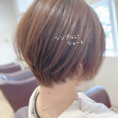 夏 ショートボブ ナチュラル ショートヘア ヘアスタイルや髪型の写真・画像
