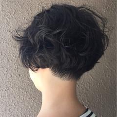 ナチュラル キュート 刈り上げ ボブ ヘアスタイルや髪型の写真・画像