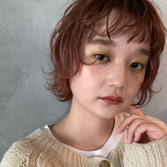 ショート シアーベージュ ウルフレイヤー ウルフカット ヘアスタイルや髪型の写真・画像