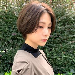お手入れ簡単!! ナチュラル ショート 透明感カラー ヘアスタイルや髪型の写真・画像
