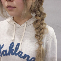 ハイトーン ヘアアレンジ アッシュベージュ ロング ヘアスタイルや髪型の写真・画像