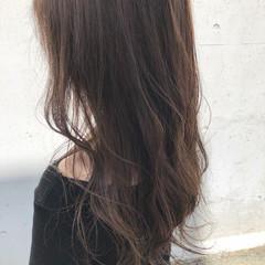 透明感 女子力 セミロング ナチュラル ヘアスタイルや髪型の写真・画像