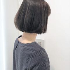 秋 ワンレングス ボブ 切りっぱなし ヘアスタイルや髪型の写真・画像