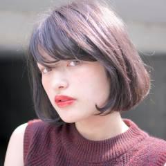 外国人風カラー ボブ 大人かわいい ショート ヘアスタイルや髪型の写真・画像