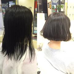 ナチュラル 黒髪 ボブ ヘアスタイルや髪型の写真・画像