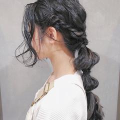 涼しげ 夏 ヘアアレンジ ガーリー ヘアスタイルや髪型の写真・画像