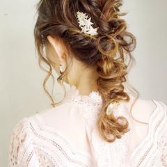 編みおろしヘア 簡単ヘアアレンジ ヘアアレンジ 編みおろし ヘアスタイルや髪型の写真・画像