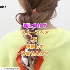 春 アンニュイほつれヘア ヘアアレンジ 簡単ヘアアレンジ ヘアスタイルや髪型の写真・画像