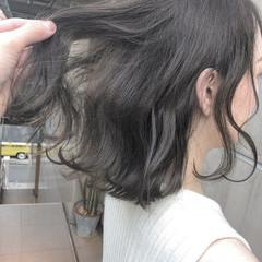 オフィス ボブ ナチュラル ヘアアレンジ ヘアスタイルや髪型の写真・画像