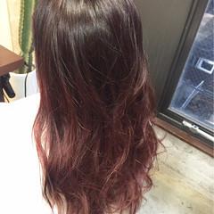 ストリート ピンクアッシュ モーブ ロング ヘアスタイルや髪型の写真・画像