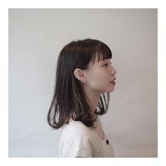 ミディアム ナチュラル 秋 ウェットヘア ヘアスタイルや髪型の写真・画像