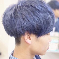 ショート ストリート メンズ 青紫 ヘアスタイルや髪型の写真・画像