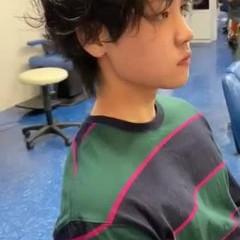 メンズパーマ メンズカット メンズ ウルフカット ヘアスタイルや髪型の写真・画像