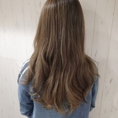 透明感 艶髪 ロング ベージュ ヘアスタイルや髪型の写真・画像