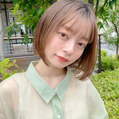 大人かわいい 透明感カラー ボブ ミニボブ ヘアスタイルや髪型の写真・画像
