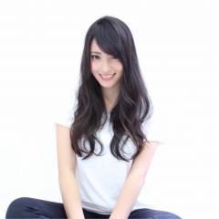 ロング ベース型 暗髪 春 ヘアスタイルや髪型の写真・画像