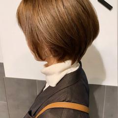 ショートボブ ブラウンベージュ ベージュ ショート ヘアスタイルや髪型の写真・画像