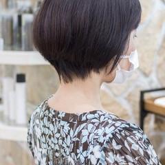 大人かわいい フェミニン マッシュショート ショートボブ ヘアスタイルや髪型の写真・画像