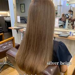 大人かわいい ロング モテ髪 ベージュ ヘアスタイルや髪型の写真・画像