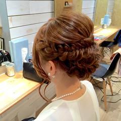 アップスタイル ショート パーティ フィッシュボーン ヘアスタイルや髪型の写真・画像