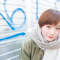 ガーリー 小顔 ショートボブ ショート ヘアスタイルや髪型の写真・画像