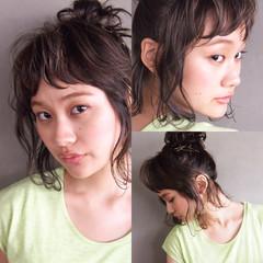 ショート ウェットヘア ナチュラル ボブ ヘアスタイルや髪型の写真・画像