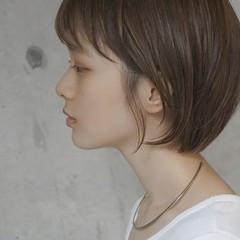 ナチュラル デート ショートボブ ショート ヘアスタイルや髪型の写真・画像