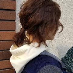 ストリート アウトドア 簡単ヘアアレンジ ボブ ヘアスタイルや髪型の写真・画像