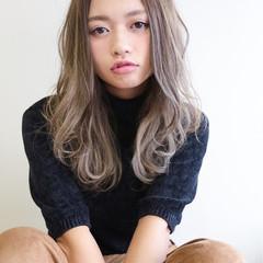 ガーリー ゆるふわ 外国人風 セミロング ヘアスタイルや髪型の写真・画像