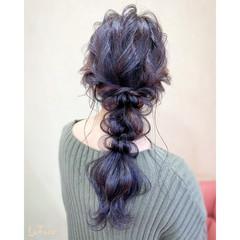ロング 編みおろし パーティ エレガント ヘアスタイルや髪型の写真・画像
