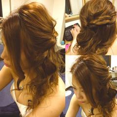 大人かわいい ヘアアレンジ ハーフアップ ゆるふわ ヘアスタイルや髪型の写真・画像
