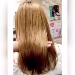 美髪 ミルクティーベージュ 外国人風カラー セミロング ヘアスタイルや髪型の写真・画像