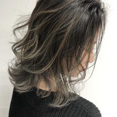 コントラストハイライト ミディアム 外国人風カラー ヘアアレンジ ヘアスタイルや髪型の写真・画像