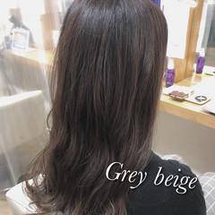 透け感アッシュ セミロング ダメージレス 圧倒的透明感 ヘアスタイルや髪型の写真・画像