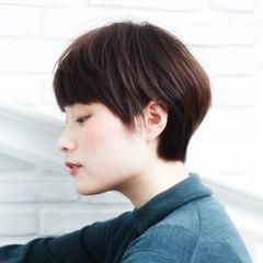 ナチュラル ショート グラデーションカラー ヘアアレンジ ヘアスタイルや髪型の写真・画像