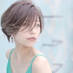 大人ショート ナチュラル ショートヘア ショートバング ヘアスタイルや髪型の写真・画像