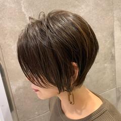 大人かわいい エレガント ショートボブ ショートヘア ヘアスタイルや髪型の写真・画像