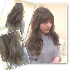 アッシュ 大人かわいい セミロング ストリート ヘアスタイルや髪型の写真・画像